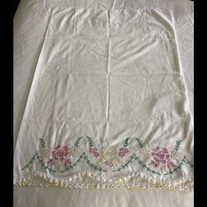 Vintage Pillow Cases crocheted cross stitched